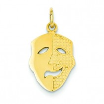 Comedy Mask Charm in 14k Yellow Gold