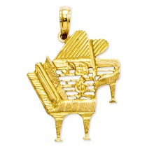 Piano Pendant in 14k Yellow Gold