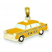 Taxi Pendant in 14k Yellow Gold