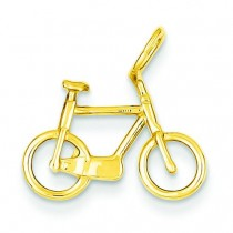 Exercise Bicycle Charm in 14k Yellow Gold