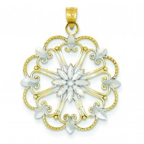 Starburst Pendant in 14k Yellow Gold