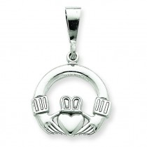 Claddagh Charm in 14k White Gold