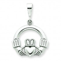 Claddagh Pendant in 14k White Gold