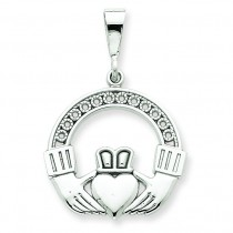 Claddagh Pendent in 14k White Gold