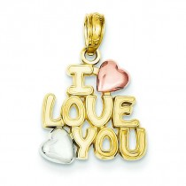 I Love You Pendant in 14k Yellow Gold