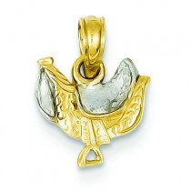 Saddle Pendant in 14k Yellow Gold
