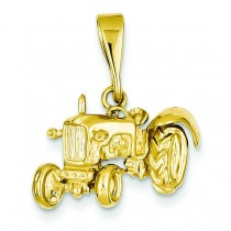 Tractor Pendant in 14k Yellow Gold