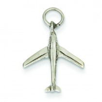 Jet Charm in 14k White Gold