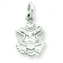 US Army Insignia Charm in 14k White Gold