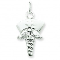 Nurse Symbol Charm in 14k White Gold