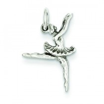 Ballerina Charm in 14k White Gold