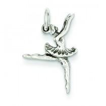 Ballerina Charm in 14k White Gold