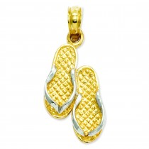 Sandals Pendant in 14k Yellow Gold