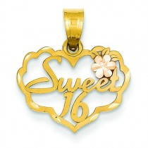 Sweet Heart Charm in 14k Two-tone Gold