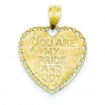 For My Daughter Heart Pendant in 14k Yellow Gold