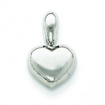 Small Heart Pendant in 14k White Gold
