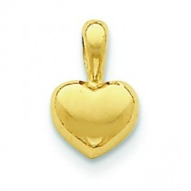 Heart Charm in 14k Yellow Gold