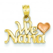 We Love Nana Charm in 14k Two-tone Gold