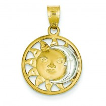 Sun Moon Charm in 14k Yellow Gold