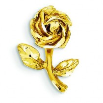 Rose Charm in 14k Yellow Gold