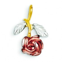 Rose Charm in 14k Tri-color Gold