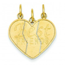 Piece Break Apart Friend Charm in 14k Yellow Gold