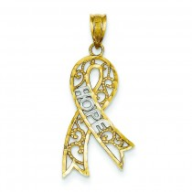 Support Hope Pendant in 14k Yellow Gold