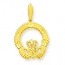 Claddagh Charm in 14k Yellow Gold