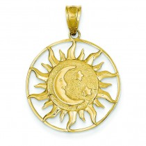 Sun Moon Star Charm in 14k Yellow Gold