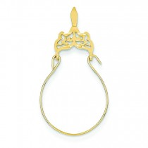 Filigree Charm Holder in 14k Yellow Gold