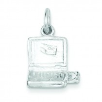 Laptop Computer Charm in Sterling Silver