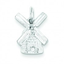 Windmill Charm in Sterling Silver
