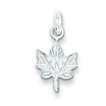 Maple Leaf Charm in Sterling Silver
