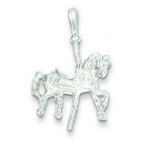 Carousel Horse Pendant in Sterling Silver