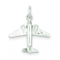 Jet Charm in Sterling Silver