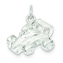 Race Car Charm in Sterling Silver