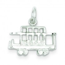 Caboose Charm in Sterling Silver