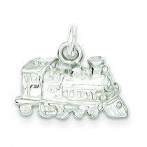 Train Engine Charm in Sterling Silver