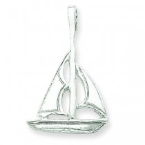 Sailboat Charm in Sterling Silver