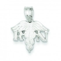 Registered Nurse Charm in Sterling Silver