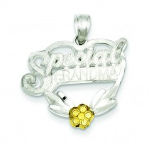 Special Grandma Charm in Sterling Silver
