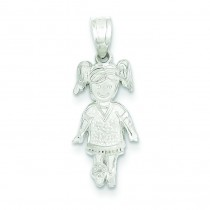 Sports Girl Charm in Sterling Silver