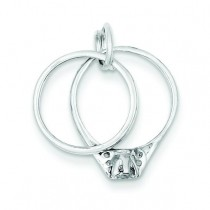 Wedding Ring Set Charm in Sterling Silver