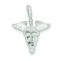 Caduceus Charm in Sterling Silver