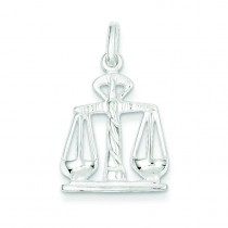 Scales Of Justice Charm in Sterling Silver