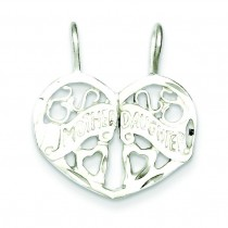Mother Daughter Piece Break Apart Charm in Sterling Silver