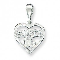 Heart Sweet Charm in Sterling Silver