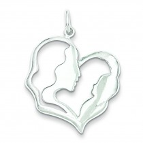 Mother Baby Pendant in Sterling Silver