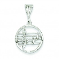 Music Staff Charm in Sterling Silver