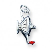 Lamp Of Knowledge Charm in Sterling Silver